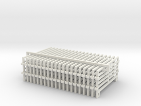 1/64 10ft Corral Panels in White Natural Versatile Plastic