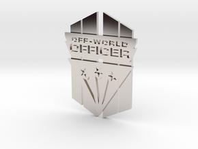 Off-World Officer Badge in Platinum