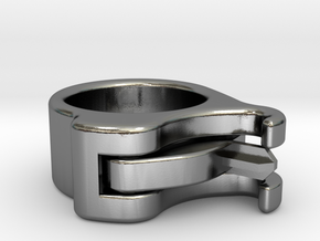 Uncapped Ring in Polished Silver (Interlocking Parts)