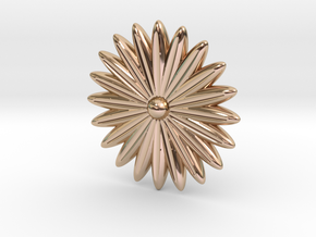 Hole Plug 0002 - flower in 14k Rose Gold Plated Brass