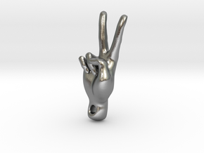 peace sign in Natural Silver