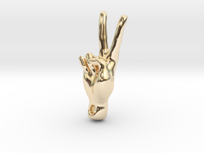 peace sign in 14k Gold Plated Brass