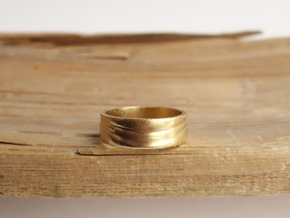 Ebb and Flow Ring No. 3 - Single Wave, Size 9 in 14K Yellow Gold