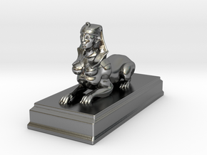 Sphinx Statue 10cm in Polished Silver