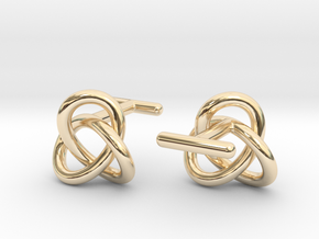 Escher Knot Cufflinks in 14k Gold Plated Brass