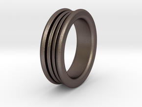 Diffuser Ring in Polished Bronzed Silver Steel