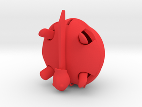 Squishy Turtle - Soft Serve in Red Processed Versatile Plastic