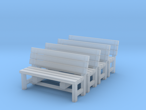 28mm Wooden bench x4 in Smooth Fine Detail Plastic