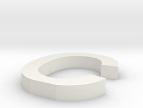 c Arial font letter in White Natural Versatile Plastic