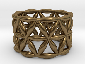 Flower of Life Ring in Natural Bronze: 5.5 / 50.25