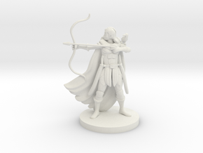 Human Female Ranger with Raven in White Natural Versatile Plastic