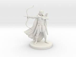 Human Female Ranger with Raven in White Natural Versatile Plastic