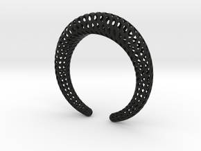 DRAGON Structura, Bracelet. Strong, Bold. in Black Premium Versatile Plastic: Extra Small