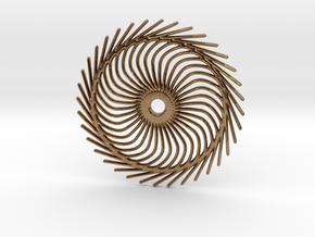 Spiral shape in Natural Brass