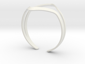 YOUNIVERSAL YY Bracelet in White Natural Versatile Plastic: Medium