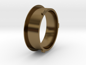 Theta - Protractor Ring: Hub in Polished Bronze