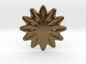 Flower shape for earrings or pendant in Natural Bronze