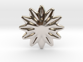 Flower shape for earrings or pendant in Platinum