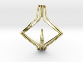 YOUNIVERSAL YY Bracelet R in 18k Gold Plated Brass: Medium