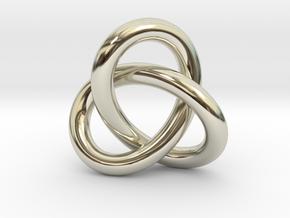 Robust Large Trefoil Knot Pendant in 14k White Gold