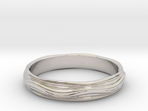Ebb and Flow Band No.4 - Rolling Hills, Size 9 in Platinum