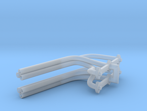 1/16 Olds Shotgun-style Headers in Smooth Fine Detail Plastic