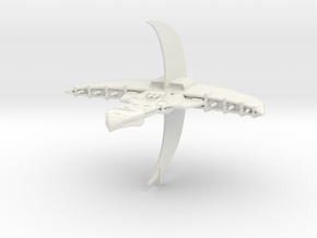 Centauri Republic Vorchan Cruiser Armada Scale in White Natural Versatile Plastic