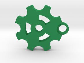Keychain-Drive Sproket in Green Processed Versatile Plastic