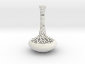 Vase R4412 in White Natural Versatile Plastic