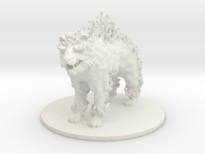 Firetiger (Large Beast) in White Natural Versatile Plastic