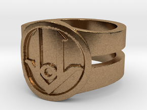 Ring Design ACE 01 in Natural Brass