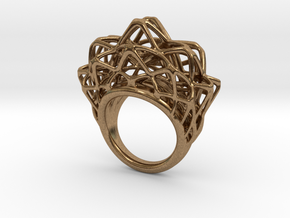 lace_ring_by_parametricart in Natural Brass