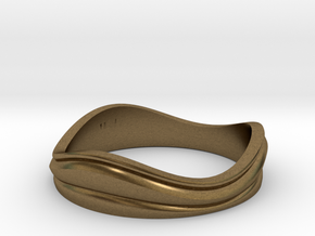 Ebb and Flow Band No.7 - Pinch me, size 7 in Natural Bronze