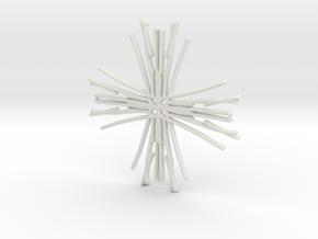 Raw cross in White Natural Versatile Plastic