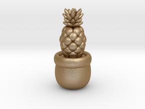 Little Pineapple in Matte Gold Steel