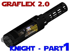 Graflex2.0 - Knight Chassis Part 1 - Main shell in White Strong & Flexible