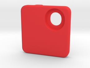MTB Front Mech Cover Blank in Red Processed Versatile Plastic