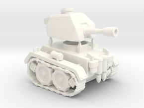 Mini Tank in White Processed Versatile Plastic