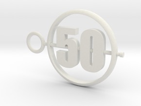 50_50mm in White Premium Versatile Plastic