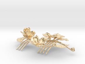 Dogwood Comb in 14k Gold Plated Brass