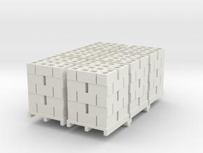Pallet Of Cinder Blocks 5 High 6 Pack 1-50 Scale in White Natural Versatile Plastic