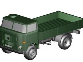 W50 Pritsche-Militär (kurz) / Flat bed-Military in Smooth Fine Detail Plastic