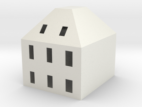 TDOC.028.003.00 - scale house -NOT FOR SALE in White Natural Versatile Plastic