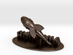 Ispirational in 3D in Polished Bronze Steel