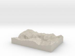 Model of Yosemite in Natural Sandstone