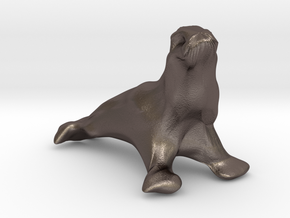 Sea Lion in Polished Bronzed Silver Steel