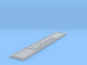 Nameplate Moreno in Smoothest Fine Detail Plastic