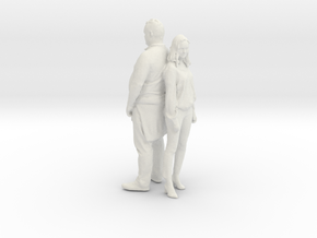 Printle C Couple 116 - 1/24 - wob in White Strong & Flexible