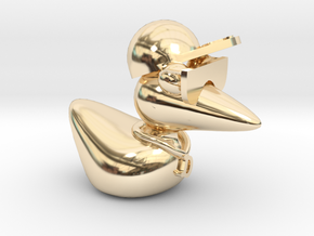 The Cool Duck in 14k Gold Plated Brass