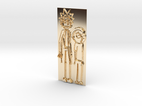 Rick And Morty Pendant in 14K Yellow Gold